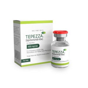 Tepezza (teprotumumab-trbw) for injection, for intravenous use.